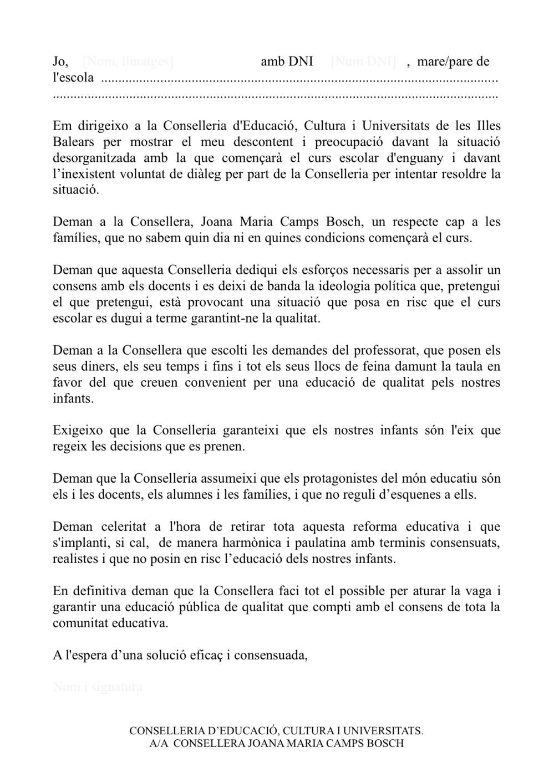 carta_protesta_familias_conselleria